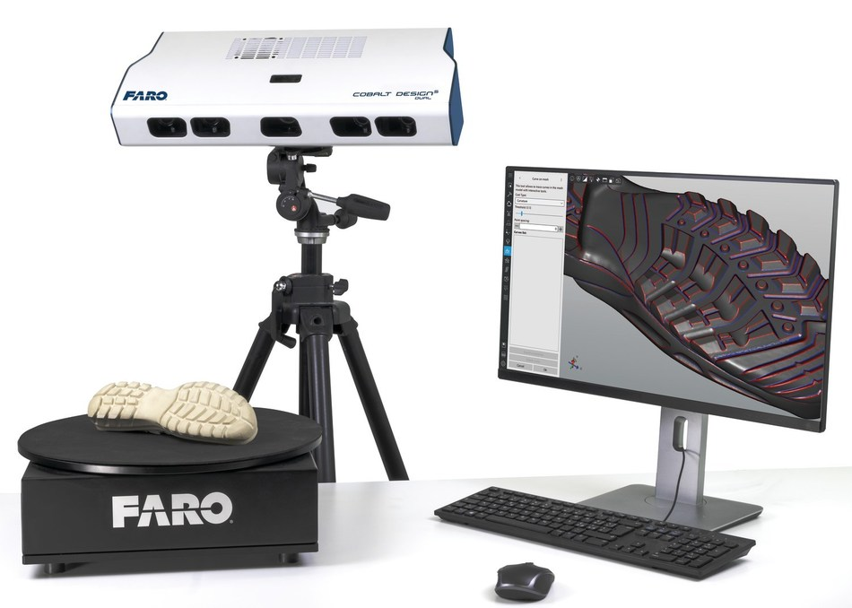 Os novos FARO Cobalt Design Structured Light Scanners capturam de forma realista imagens de digitalização texturizadas a cores de alta qualidade.