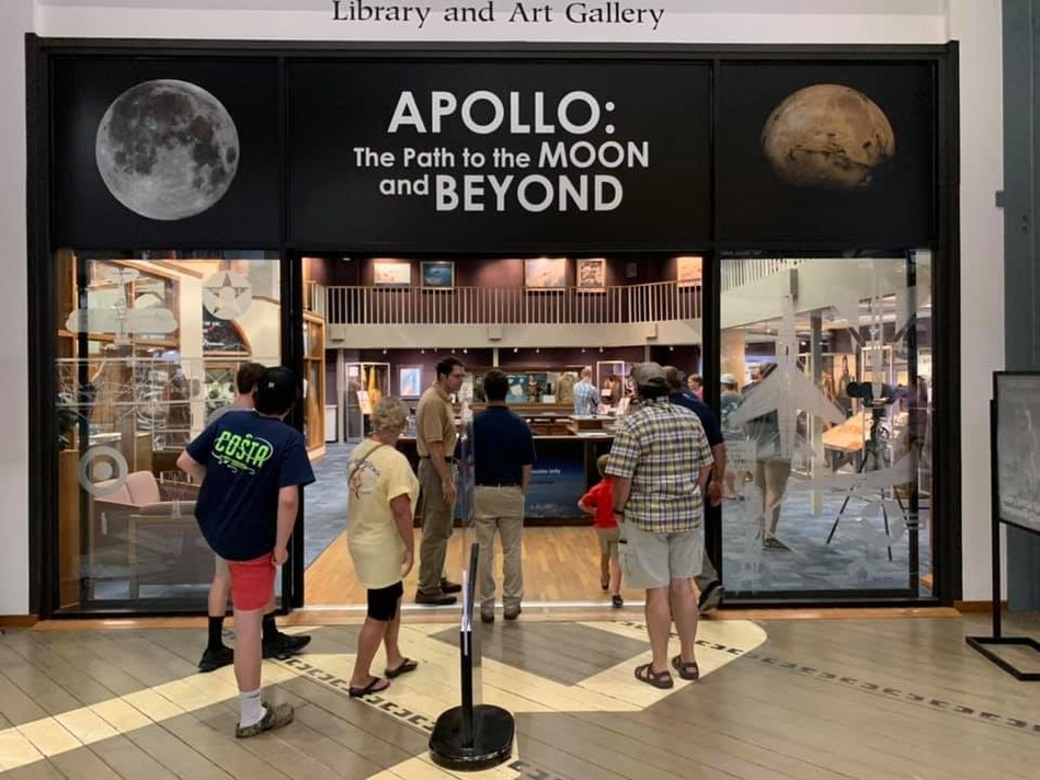 Apollo: The Path to the Moon and Beyond, a new exhibit at the National Naval Aviation Museum in Pensacola, Fla., recently opened on the 50th anniversary of the moon landing.