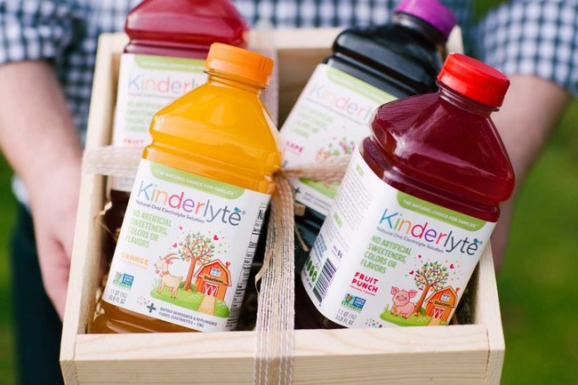 Kinderlyte is the natural oral electrolyte solution. Available in Fruit Punch, Orange and Grape.
