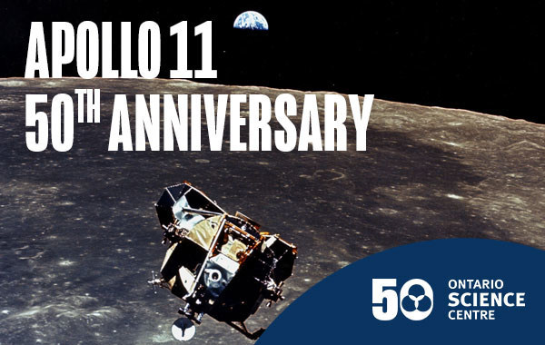 On July 20, the Ontario Science Centre celebrates the historic Apollo 11 Moon landing with activities for the whole family—from sunup to sundown—as part of its Summer of Space. (CNW Group/Ontario Science Centre)