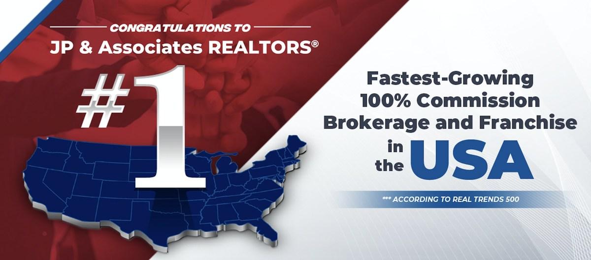 JP & Associates REALTORS® Now America's Fastest-Growing 100