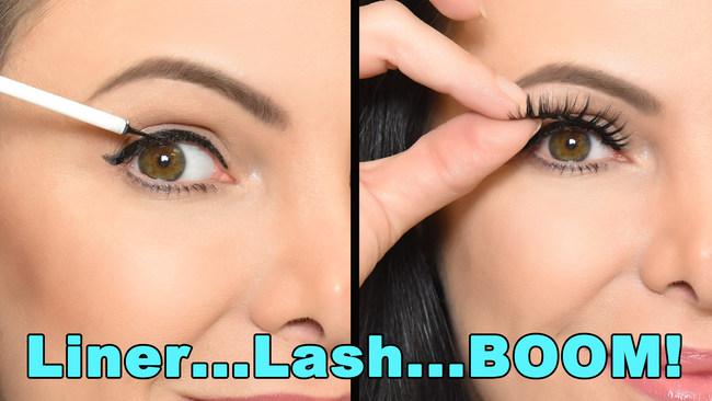 The easiest way to wear false eyelashes!