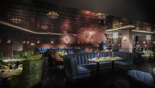 The Britely, a modern social club coming to West Hollywood in Spring/Summer 2020. With interiors by Martin Brudnizki Design Studio and two private dining experiences by chef Wolfgang Puck, The Britely introduces unrivaled service, a rooftop pool, 24-hour gym, spa, bowling lanes, screening room, music and performance venue, cultural programming, and more, in a glamorous yet casual environment.