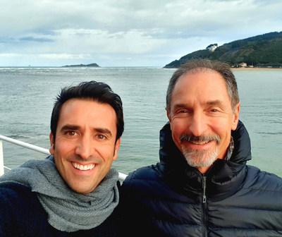 Xabi Uribe-Etxebarria and Tom Gruber in Urdaibai Biosphere reserve, Basque Country