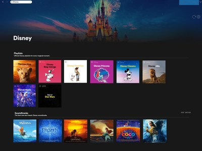 Disney Spotify Hub Cover Art