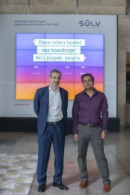 Nitin Mittal, CEO, SOLV with Alex Mason, Global Head, SC Ventures at our hackable digital billboard