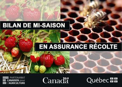 Bilan de mi-saison en assurance récolte (Groupe CNW/La Financière agricole du Québec)