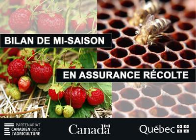 Bilan de mi-saison en assurance récolte, LaFinancièreagricole du Québec (Groupe CNW/La Financière agricole du Québec)