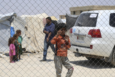 At least 70,000 people live in Al-Hol Camp, northeast of Syria. UNICEF estimates that more than 90 per cent of them are children and women. © UNICEF/UN0327908/Hawas (CNW Group/UNICEF Canada)