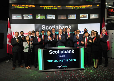 Scotiabank Opens the Market (CNW Group/TMX Group Limited)
