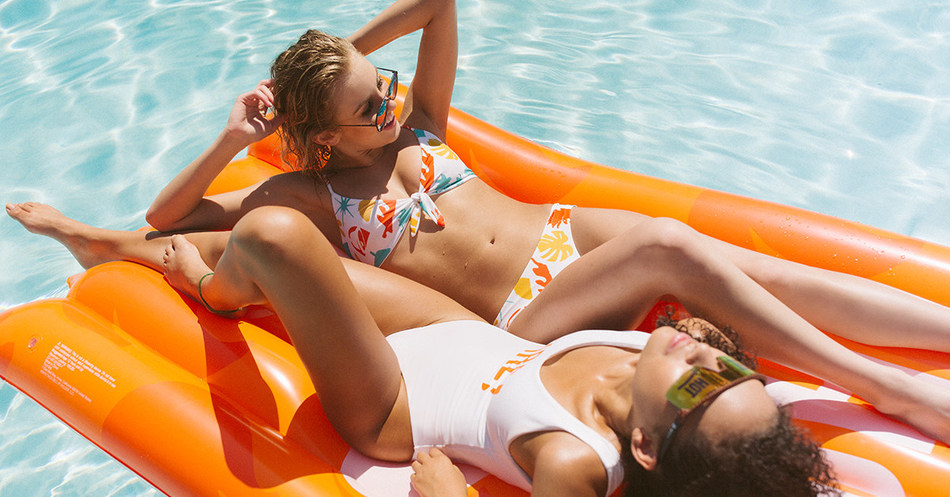 Fans on site (and online at the Taco Shop) can rock Taco Bell inspired resort looks all summer --- whether that's in a sauce packet-inspired one-piece swimsuit, saucy swim trunks or hot sunglasses, or lounging on their own sauce packet pool float.