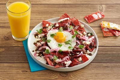 For fans who can't make it to Palm Springs this summer, they can still bring a little Bell to their breakfast with a recipe for the Fire! Chip Chilaquiles that will be served on site.