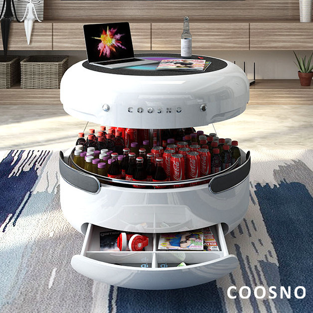 Refrigerator Coffee Table.Coosno Redefines The Coffee Table With A Voice Controlled