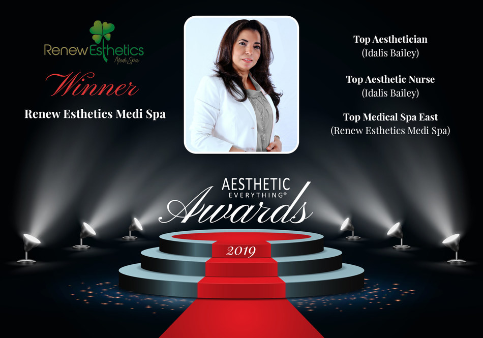 Idalis Bailey, CEO of Renew Esthetics Medical Spa to Receive Prestigious Awards at the 2019 Aesthetic Everything® Aesthetic and Cosmetic Medicine Awards