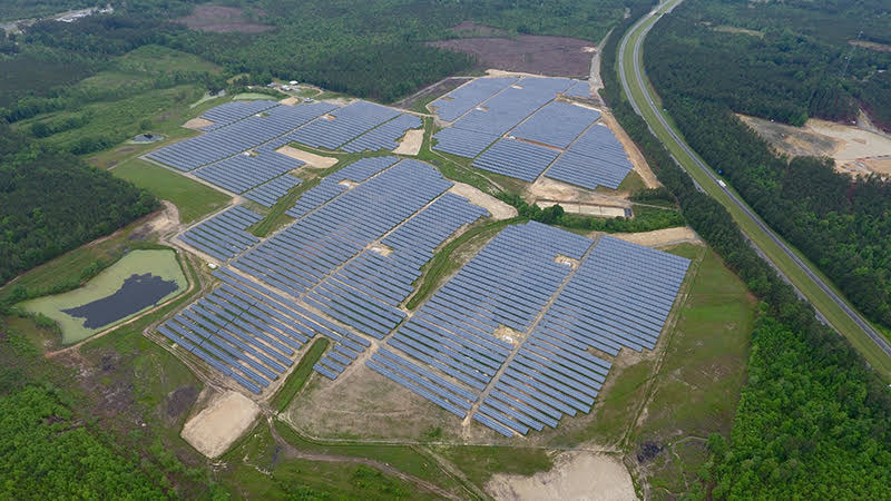 Montgomery Solar in Biscoe, NC is a 20MW facility built by O2 emc in 2015 and is running on the MyPV MCI (monitor/control/integrate) family of products by Solar Operations Solutions LLC.