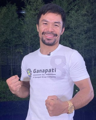 Ganapati is producing the official Manny Pacquiao slot game, with proceeds going to the Manny Pacquiao Foundation