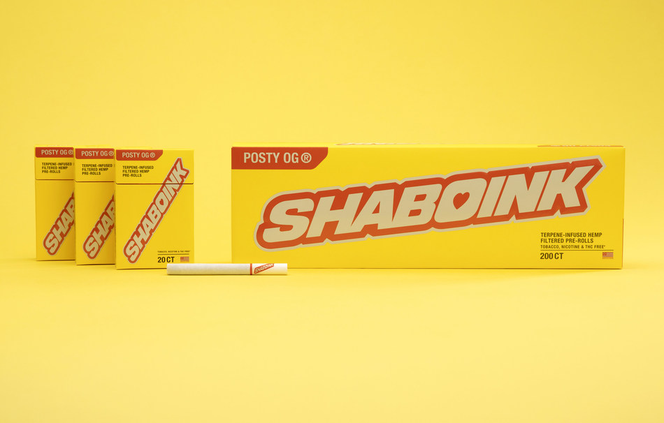 Post Malone's brand Shaboink unveiled today American-grown, filtered hemp pre-rolls.