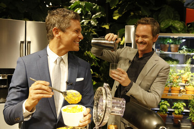 Neil Patrick Harris attends the KitchenAid Culinary Playground opening with his husband David Burtka. The pair give opening remarks in New York City, Thursday, July 18, 2019. (Clarence Sormin)
