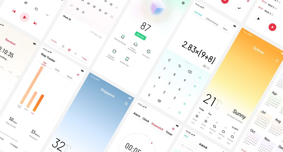 Interface of ColorOS 5 and ColorOS 6