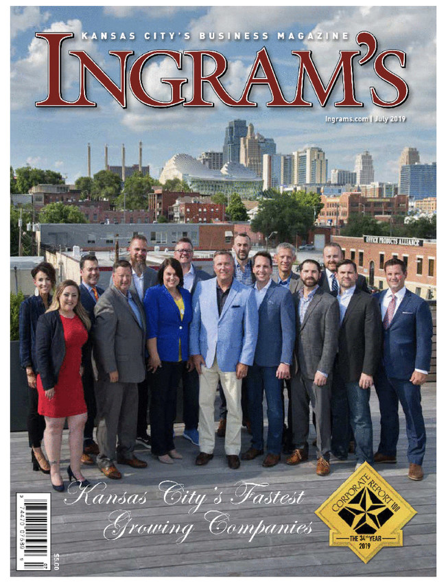 Prineta Co-Founders and Managing Partners are included on the cover of the July 2019 edition. Tanner Morton is on the front row, far right. G Jason Schnellbacher is on the second row, far right