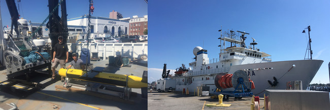 ThayerMahan Employees Steven Link and Welles Sakmar with the KATFISH-180 Aboard NOAA Ship Okeanos Explorer