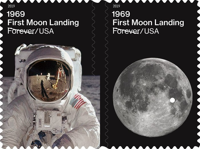 To celebrate 50th anniversary of the historic Apollo 11 mission, the U.S. Postal Service today launches the 1969: First Moon Landing Forever stamps at Post Office locations nationwide and online at The Postal Store.