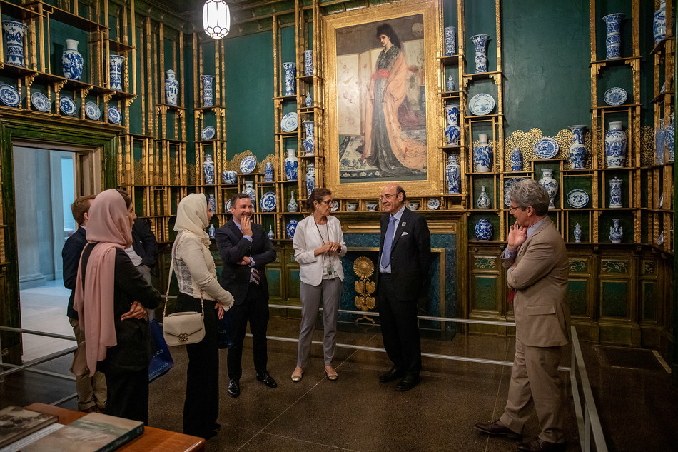 United Arab Emirates Minister of State and Head of the Ministry of Foreign Affairs Office of Public and Cultural Diplomacy, His Excellency Zaki Nusseibeh meets with top leadership at Smithsonian Institution and the Freer Sackler Gallery.