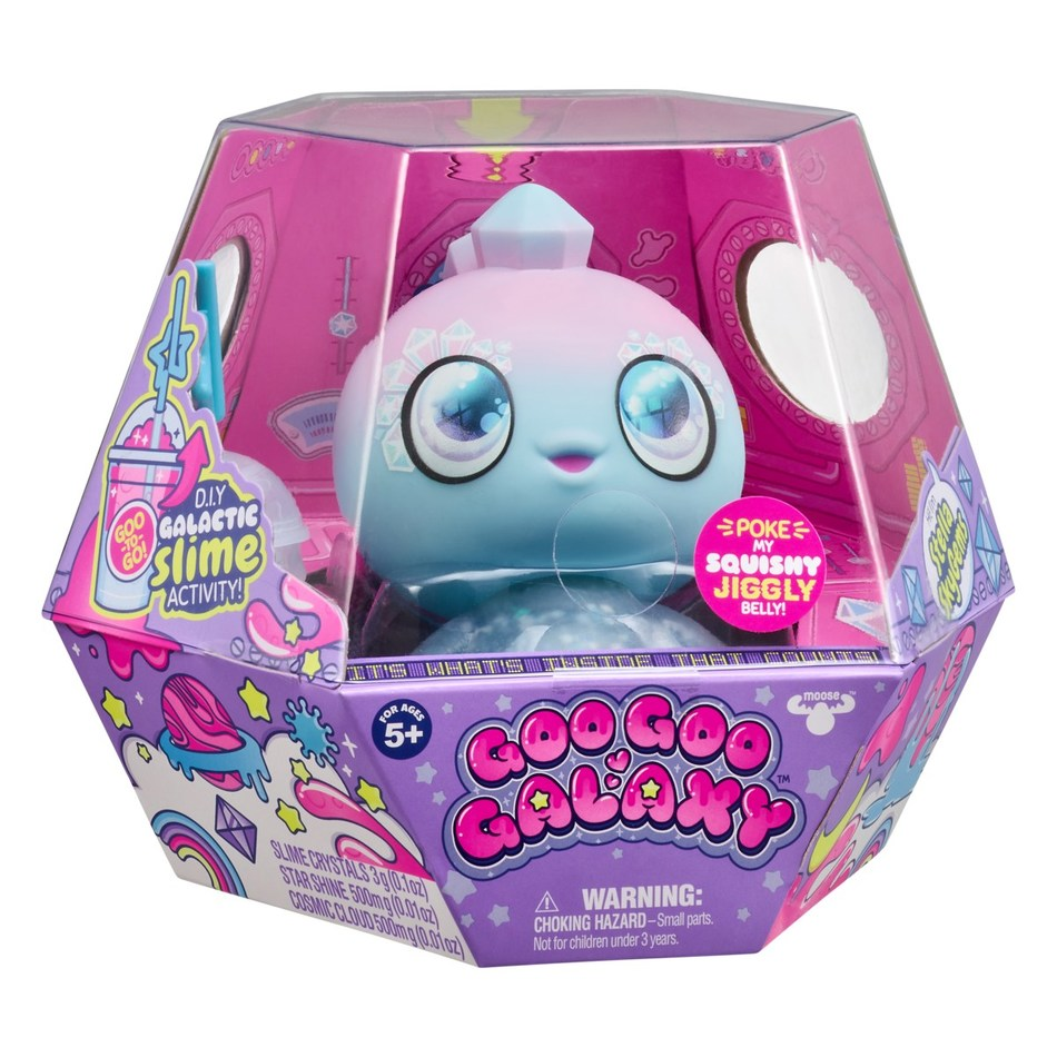 Goo Goo Galaxy crash lands on earth and kids clamor to adopt an out-of-this-world best friend. Merging collectible and tactile trends, the line features Goo Drops, which are quirky alien babies with glittery, goo-filled bodies and a special DIY slime activity. There are four dolls to discover, including Yumi Unicorn, Stella Skygems, Luna Laguna and Astra Nommy, and they are available in stores August 1.