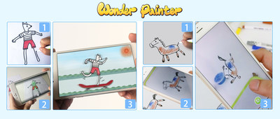 Wonder Painter technology turns anything into animation, take a photo of your painting and watch it become animated and interactive in a story