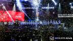 Cerimônia de encerramento do WCG 2019 Xian, apresentando o valor da participação e o futuro