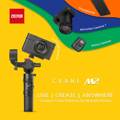 Zhiyun Announces CRANE-M2, the Most Versatile Compact Stabilizer