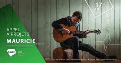 Baptiste Prud'homme, Histoires et chansons de papier, 2015. Photo : Christine Berthiaume (Groupe CNW/Conseil des arts et des lettres du Québec)