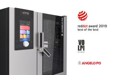 Act.o, the combined oven made by Angelo Po and Studio Volpi, that won the Red Dot Design Award: Best of the Best