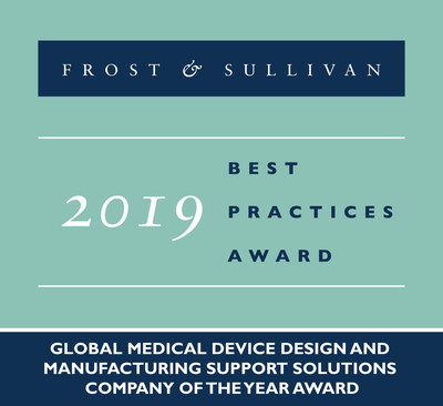 2019 Global Medical Device Design and Manufacturing Support Solutions Company of the Year Award