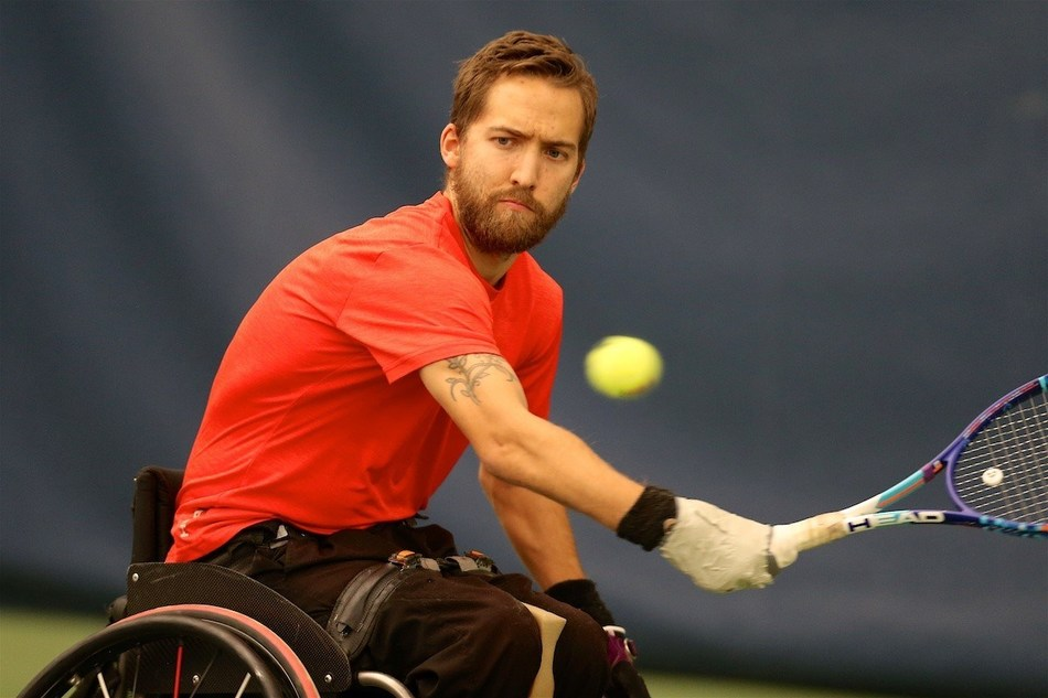 Rob Shaw is the highest-ranked member of the Canadian wheelchair tennis team at world No. 8. PHOTO: Tennis Canada (CNW Group/Canadian Paralympic Committee (Sponsorships))