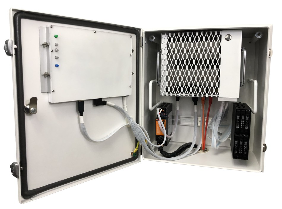 The Aertight Server Platform has a patent pending modular design that allows the motherboard/cpu, subpanel, and even the display to be swapped out with ease.