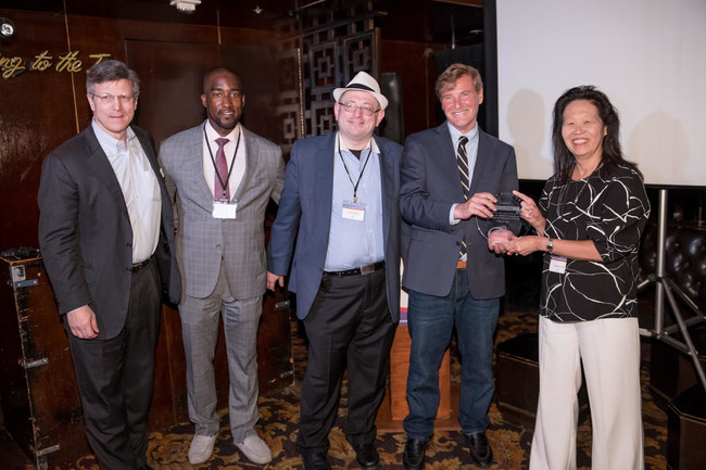 From left to right: David Weild IV, Gerald Commissiong, Max Tokarsky, Leigh Steinberg, Rhoda Au.