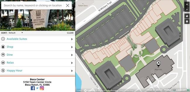 Boca Center Interactive Map