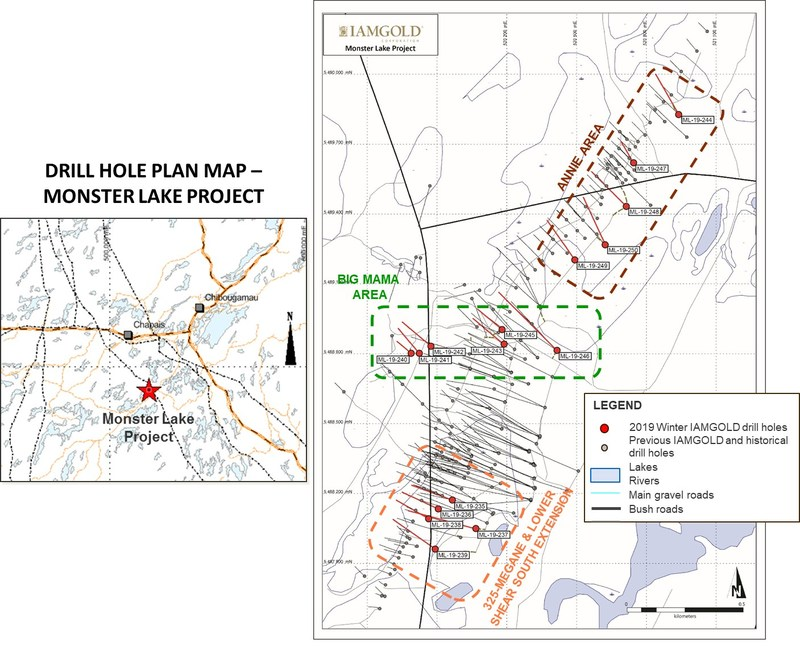Drill Hole Plan Map - Monster Lake Project (CNW Group/Corporation TomaGold)