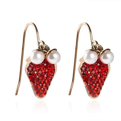 Marlary Strawberry Earrings by Dongguan Marlary Jewelry Co Ltd (2K30)