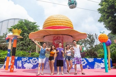 "The classic scenes from One Piece including the ""Thousand.Sunny's Figurehead�, ""Bounty Posters� and ""Luffy's Straw Hat� will immerse everyone in a dynamic summer celebration. (PRNewsfoto/Ocean Park Hong Kong)"