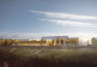 Exterior design of Parks Canada's new purpose-built collection storage facility. © Moriyama and Teshima Architects and NFOE Architects, a joint-architectural venture. (CNW Group/Parks Canada)