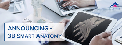 3B Scientific宣布推出新一代解剖模型3B SMART ANATOMY