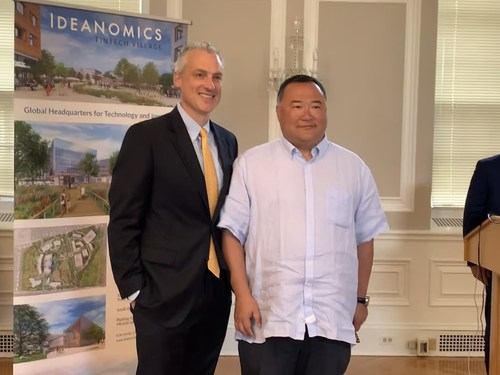 State Senator Derek Slap (D-West Hartford) (left) & Dr. Bruno Wu, Chairman of Ideanomics (right)