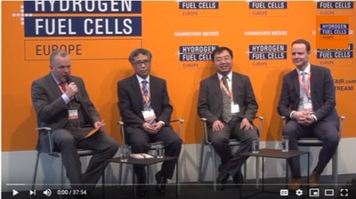 Podium Discussion: Hydrogen and Fuel Cells developments in China  Speakers: Franz Lehner, Managing Consultant, E4Tech, Wei Xu, Vice General Manager, Tianjin Mainland Hydrogen Equipment, Wolfgang Chen, General Manager, Palcan Energy Corporation