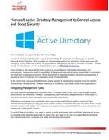 Active Directory Management Article