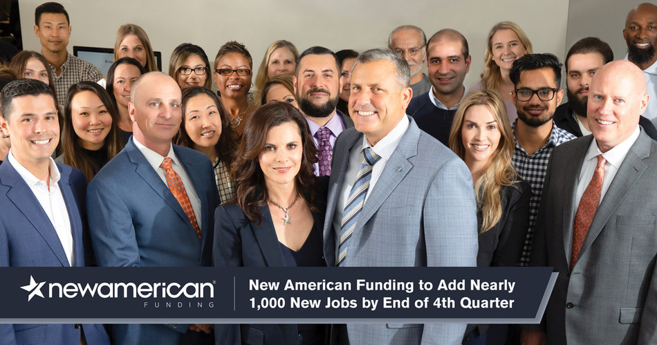 New American Funding to Add Nearly 1,000 New Jobs by End of 4th Quarter