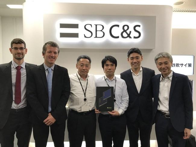 ISL Online and OceanBridge CEOs visiting SB C&S head office in Tokyo.