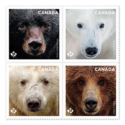 Timbres sur les ours (Groupe CNW/Postes Canada)
