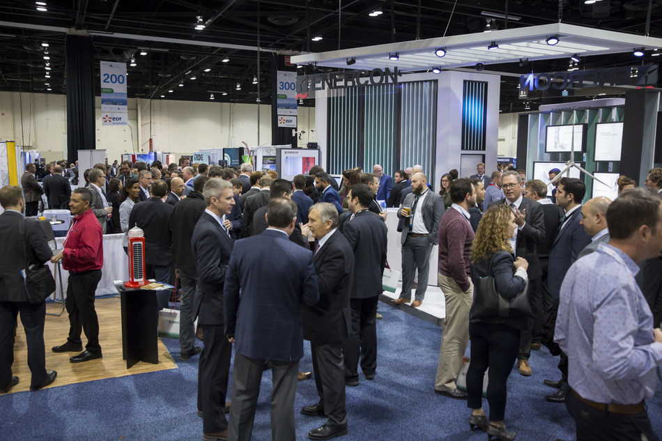 On the Conference tradeshow, attendees learn about cutting-edge technology and innovations designed to solve the industry's biggest challenges and capture opportunities. (CNW Group/Hannover Fairs (Canada) Inc.)